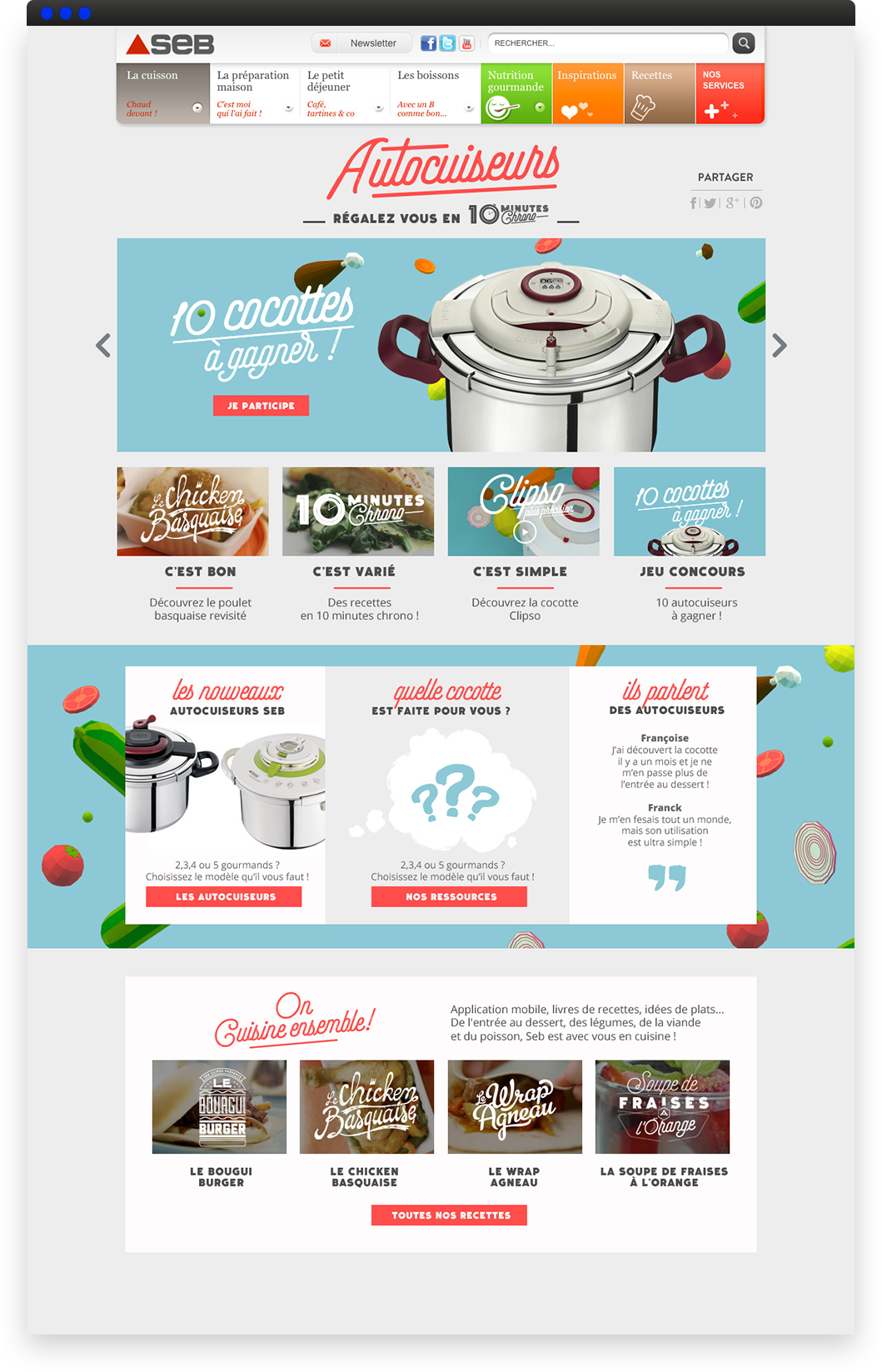 seb projet page landing page marque